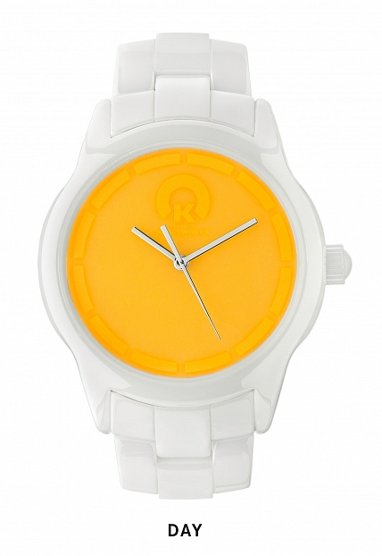 Наручные часы KRAFTWORXS  Full moon White Ceramic Orange  KW-FM/W-10O